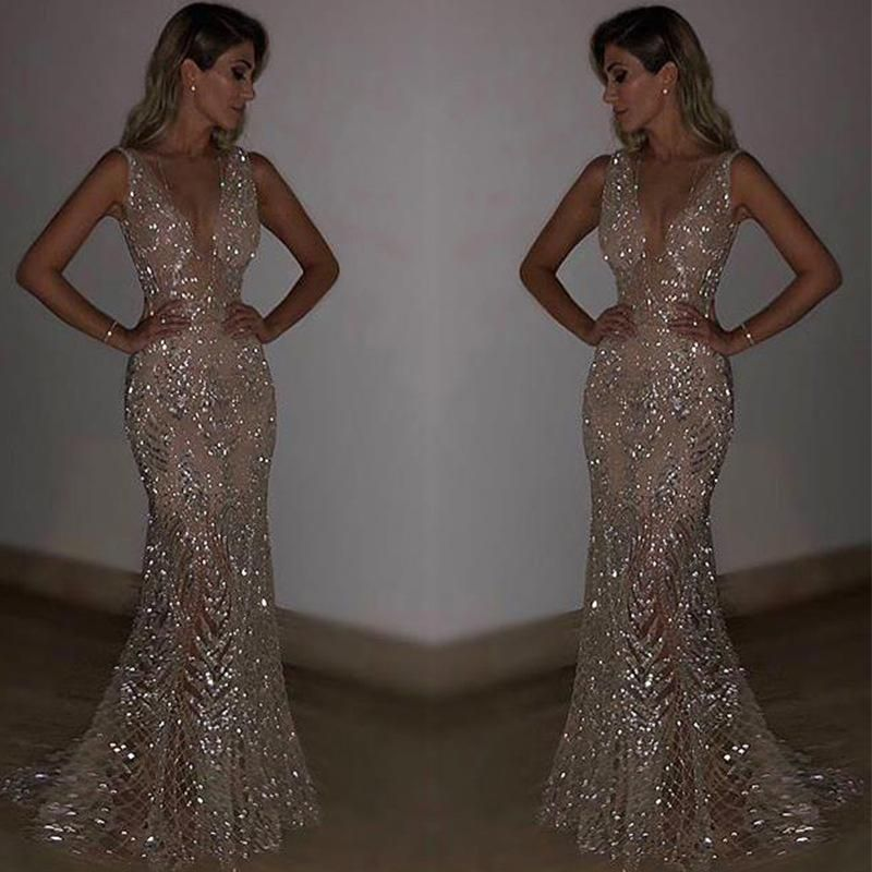 Sequined Night Dresses Es 2018 Women S Gorgeous Formal Party Gowns