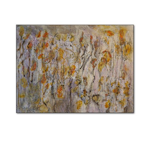 Art painting Abstract   Canvas yellowcreamgrey by HelenKilsby,