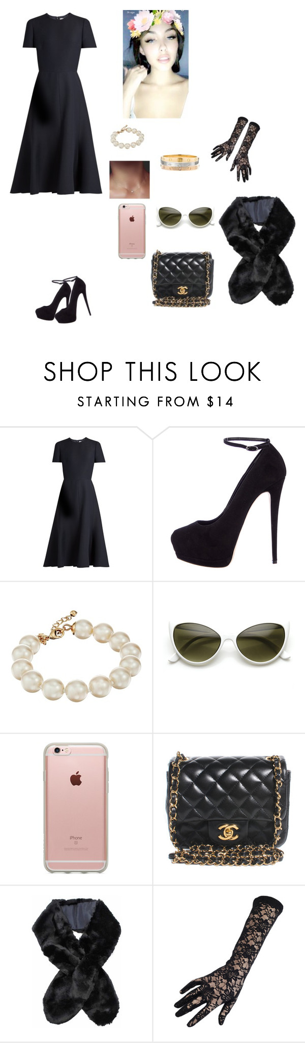 """Black widow"" by mariaxl ❤ liked on Polyvore featuring Valentino, Giuseppe Zanotti, Kate Spade, ZeroUV, Incase, Chanel and Black"
