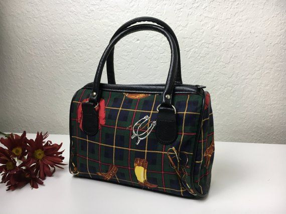 53ed34519340 90 s Equestrian Hunter Green Handbag