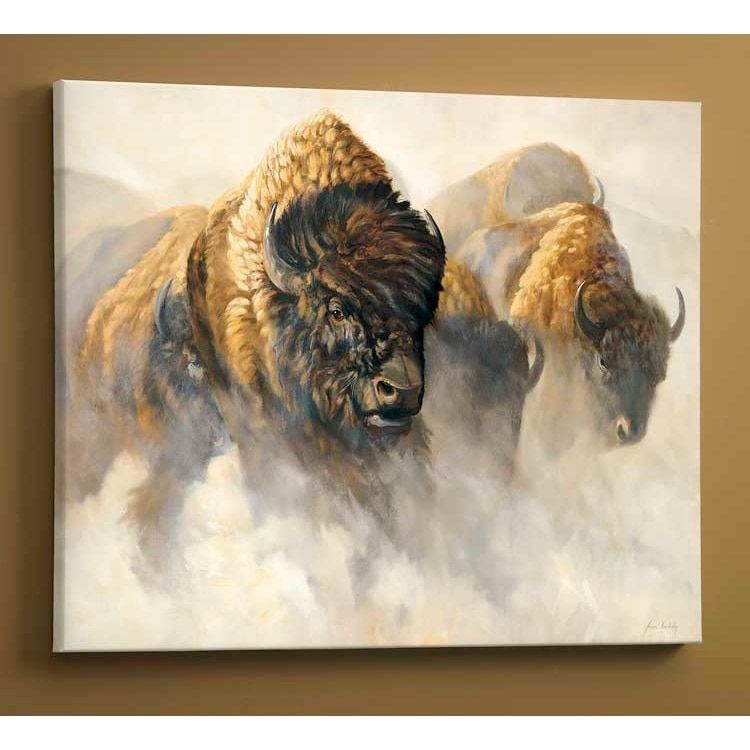 Bison Canvas Art Wrapped Phantom Of The Plains Wild Wings With Images Buffalo Art Buffalo Wall Art Western Art