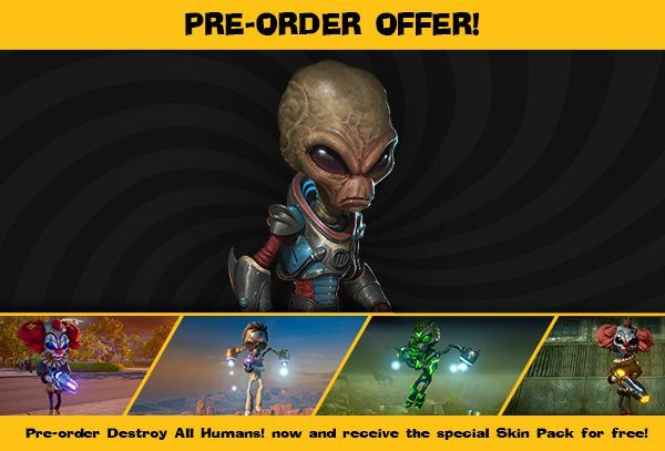 Destroy All Humans Pre-Order Skin gamertagzero