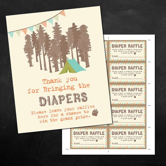 Instant download printable vintage rustic camping themed baby shower instant download printable vintage rustic camping themed baby shower diaper raffles 8x10 business card reheart Image collections