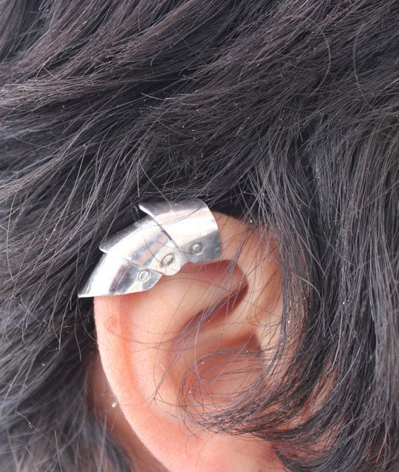 Make An Eye Catching Jewelry Stand From Plumber S Copper: Armor Ear Cuff, Armor Jewelry, Medieval, Dragon Scale Ear