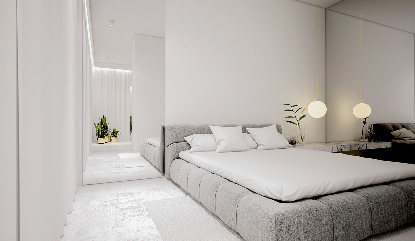 Best White Minimalist Spaces That Will Make You Forget All About Color Modern Apartment Decor 400 x 300
