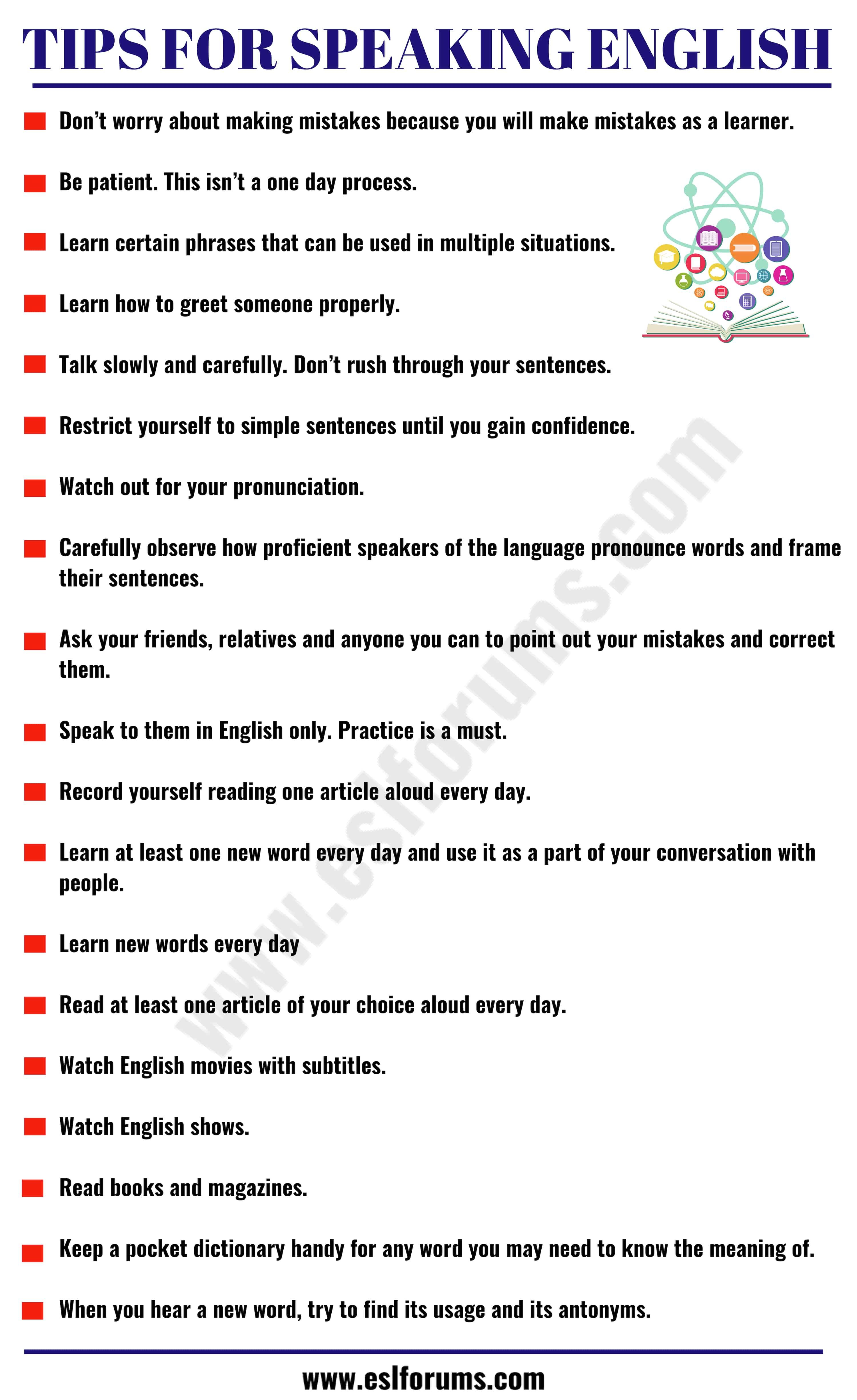 How to speak english fluently 20 helpful tips to improve