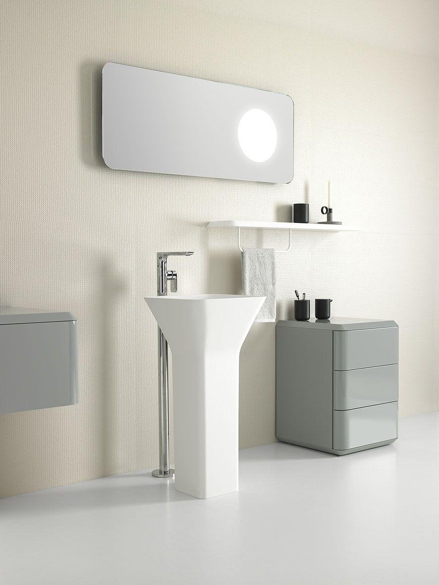Fluent collection by Inbani. #bathroom #furniture #design