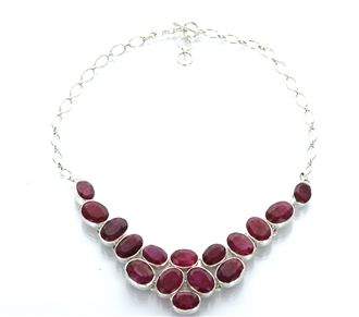 Rubies look incredible on any woman. This is an incredible gemstone necklace that will quickly be one of your favorite accessories!  http://www.majestical.com/Ruby-Red-Statement-Necklace-p/nec-296-sis.htm