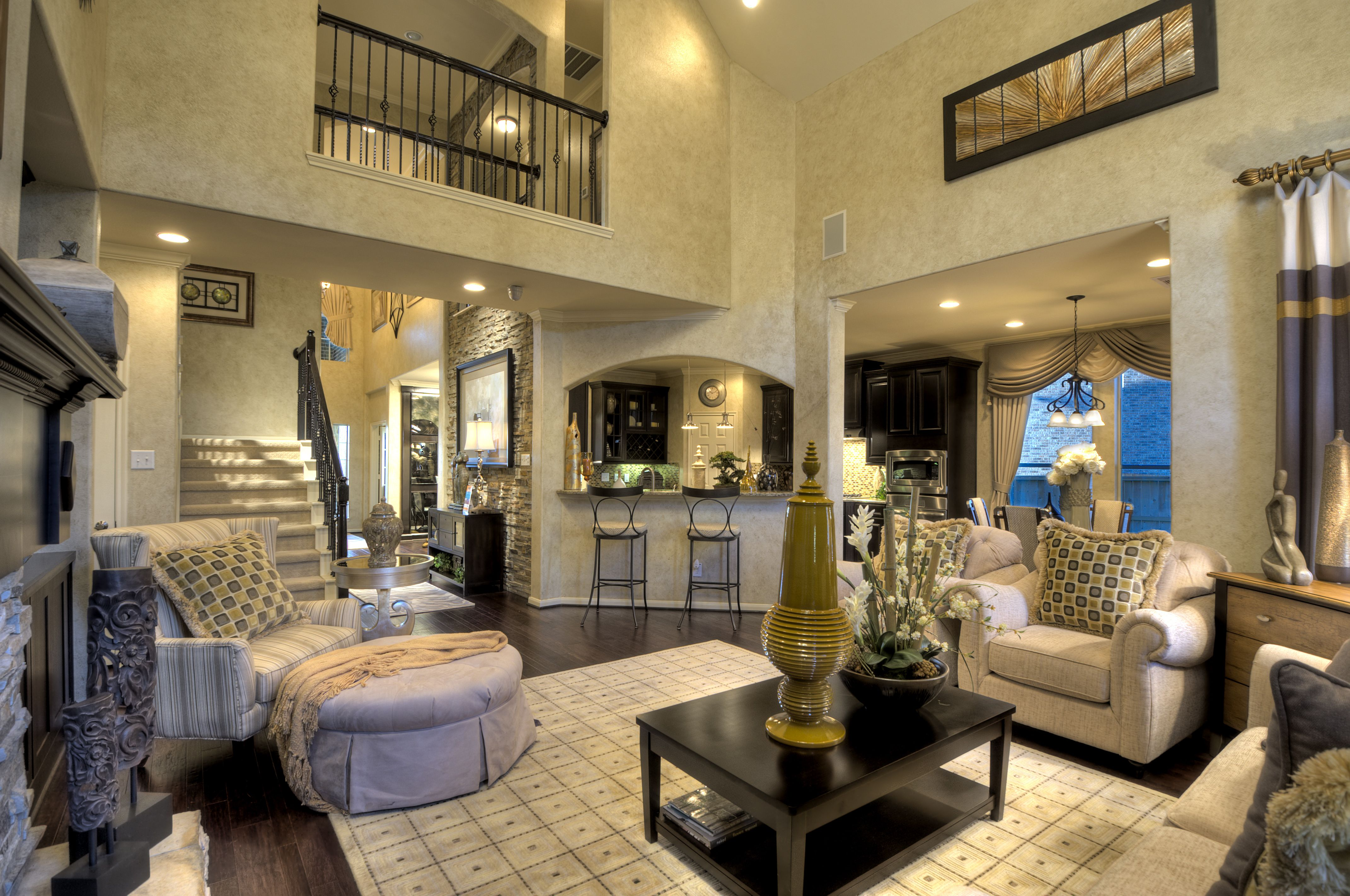 Take in the open floor plan and impressive array of