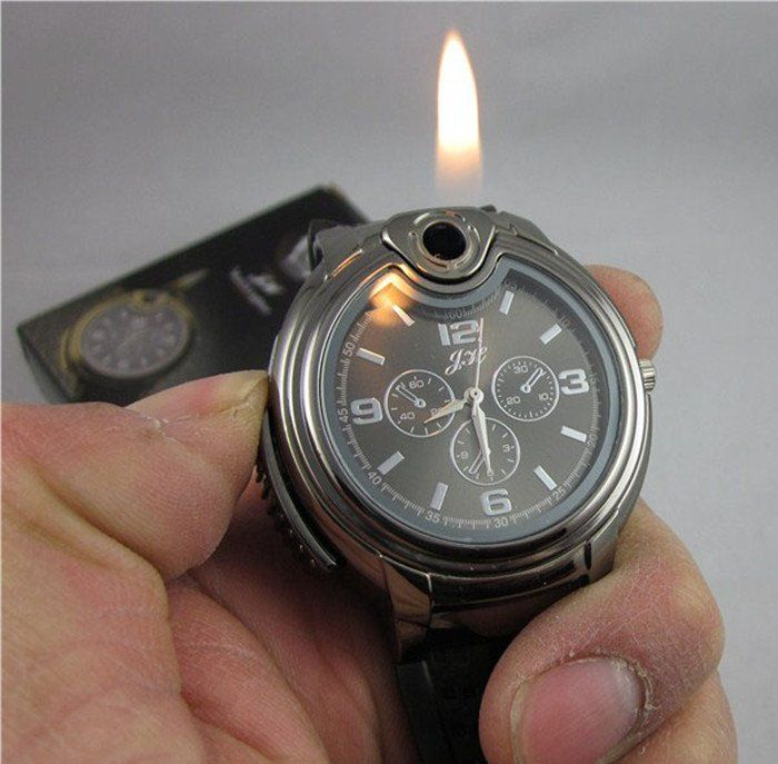 30pcs cool gas refillable lighter metal watch novelty collectible cigarette butane best christmas gift for men - Best Christmas Gifts For Men