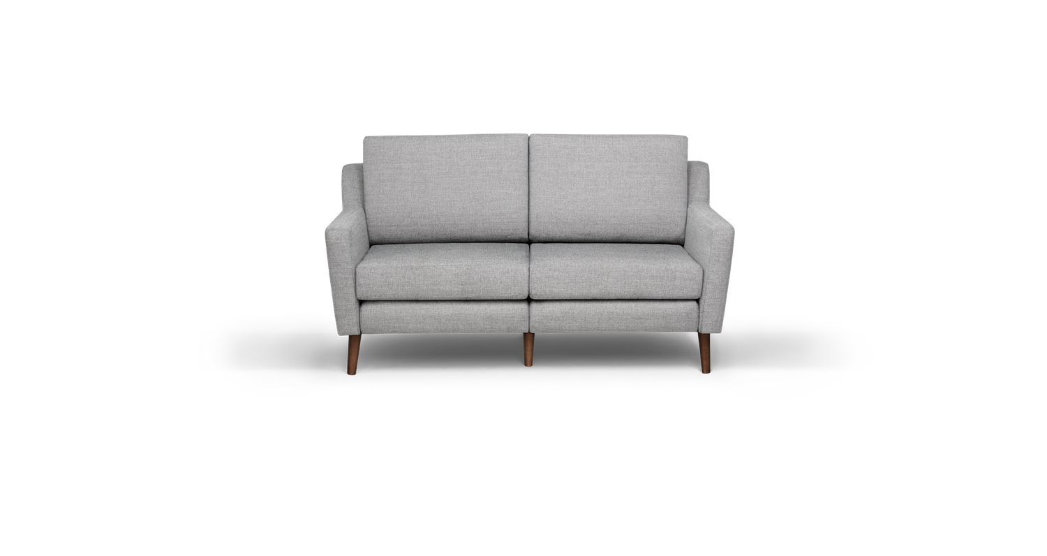 Pleasant Loveseat In Crushed Gravel Fabric House The Burrow Machost Co Dining Chair Design Ideas Machostcouk