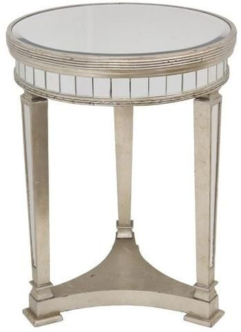Deana Round Mirrored Side Table Antique Small Ds 41103 Shine Mirrors Australia 1