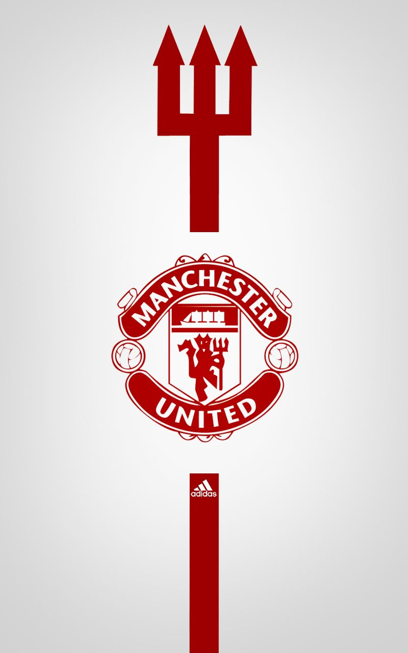 Manchester United Adidas Android Wallpaper White Sepak Bola Seni Wallpaper Ponsel