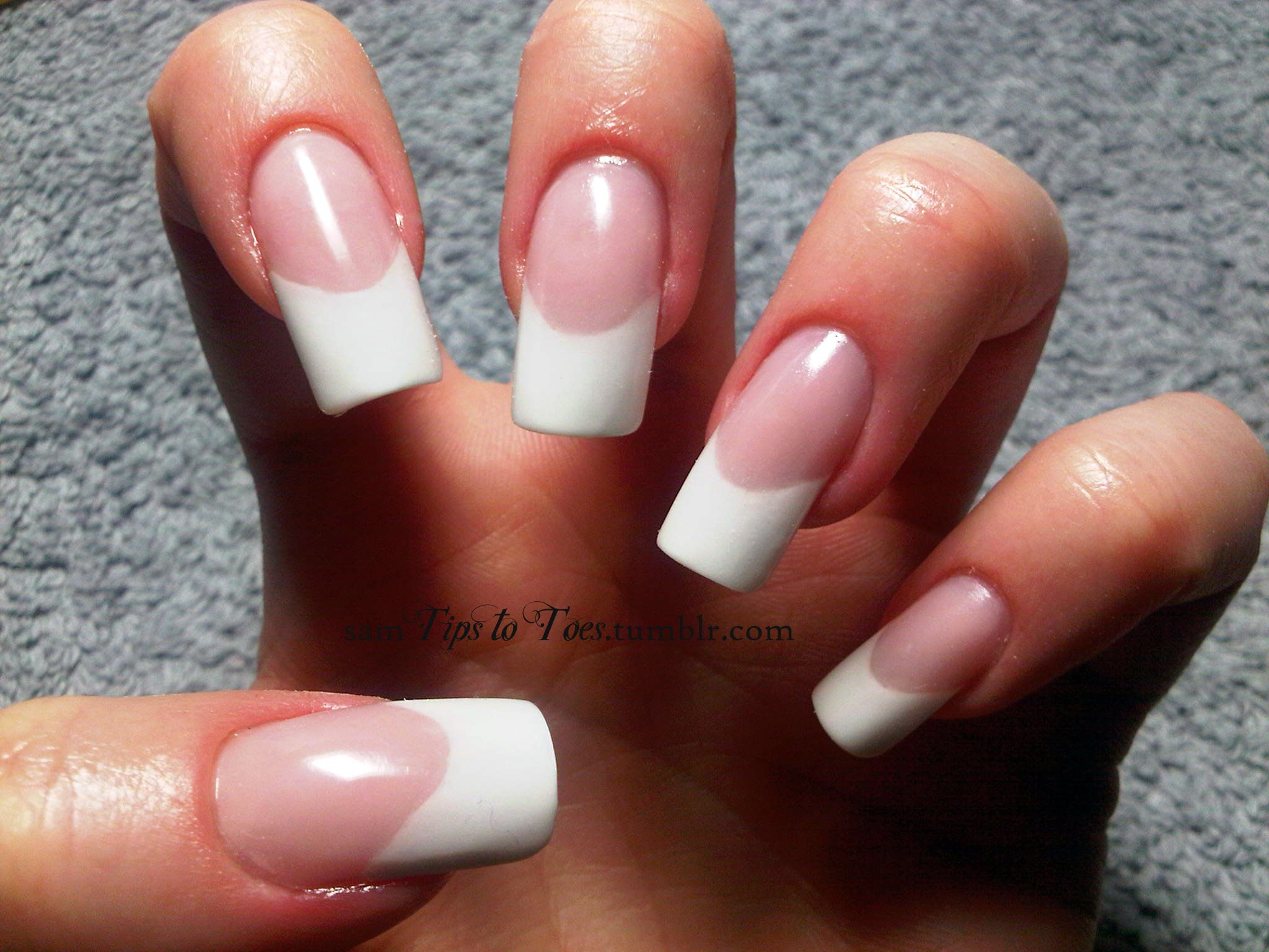Pink and whites with extended nail beds. | Manicures | Pinterest ...