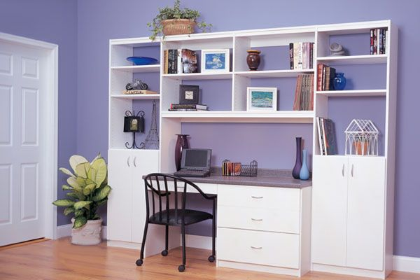 Custom home office closets and storage by Simplespace