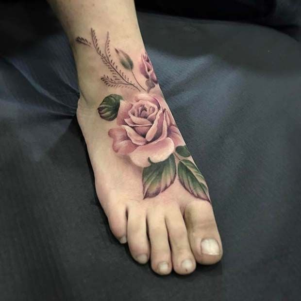21 Beautiful Rose Tattoo Ideas For Women Stayglam Tattoos For Women Flowers Rose Tattoo Foot Rose Tattoos For Women