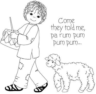 Little Drummer Boy Coloring Pages 1