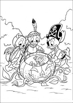 Mickey Duffy Halloween Coloring Page Donald Duck Coloring Pages