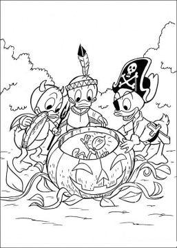 Donald Duck Coloring Pages Super Coloring Part 2 Disney Halloween Coloring Pages Disney Coloring Pages Halloween Coloring