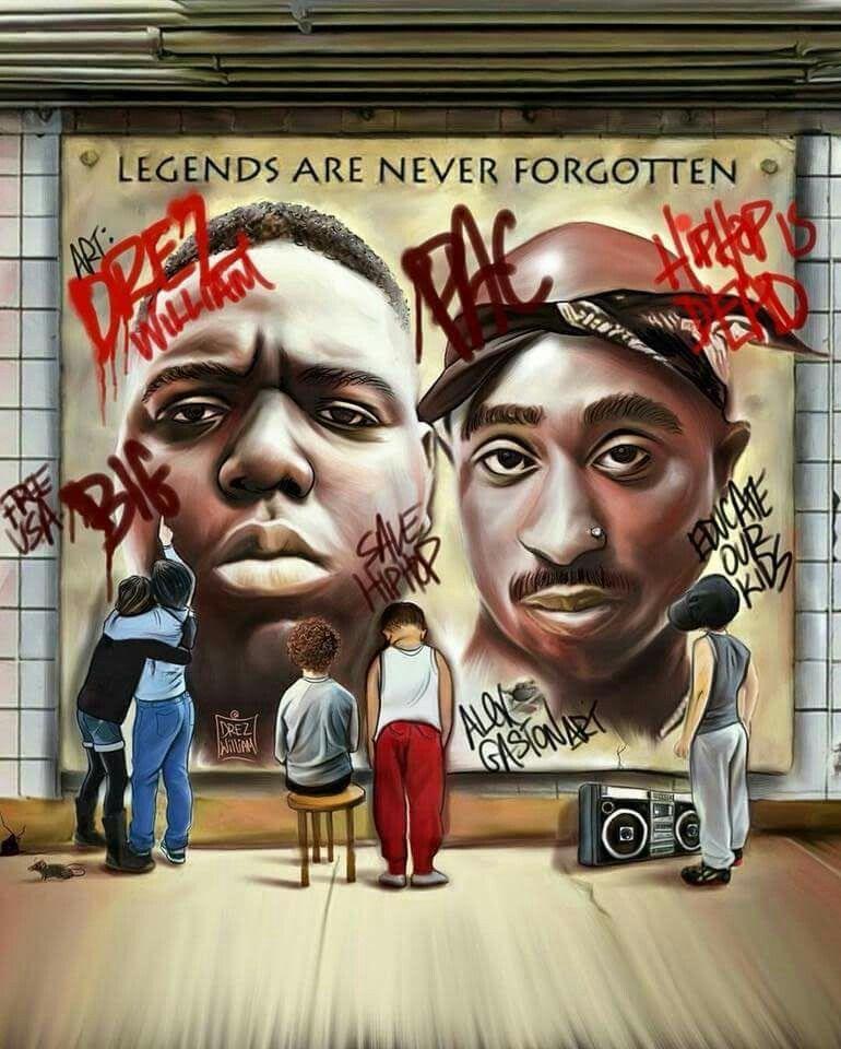 Tupac Shakur Pac Rap Music Dope Art Biggie Smalls Hip Hop