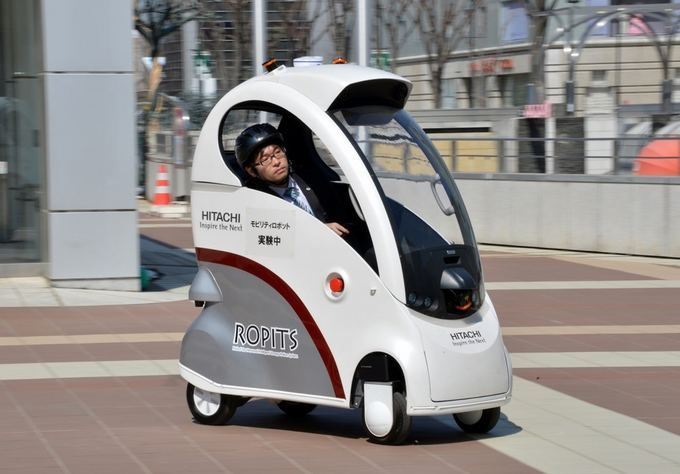 Japan Invents One Man Robot Car That Can Drive Itself Tokyo