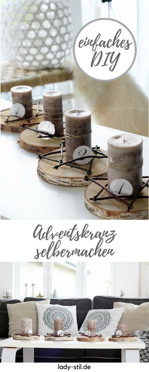 Photo of DIY Advent wreath Advent! Advent! – lady-stil.de