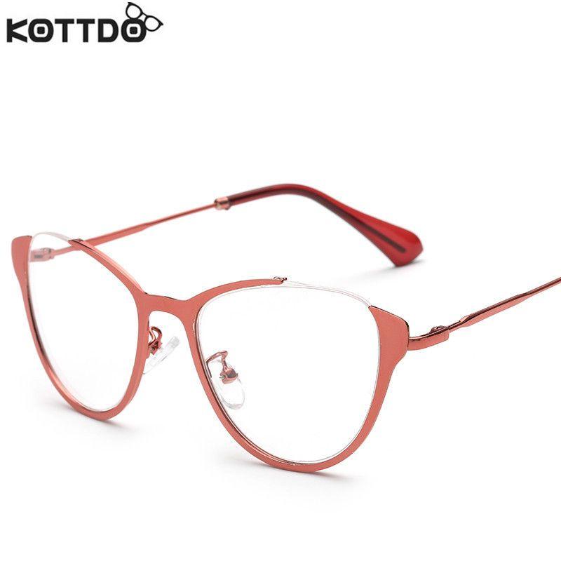 6f1053547c6 KOTTDO New Fashion Men Optical Glasses Frame For Women High Quality Metal  Vintage Eyeglasses Half-frame Eyewear For Male Female