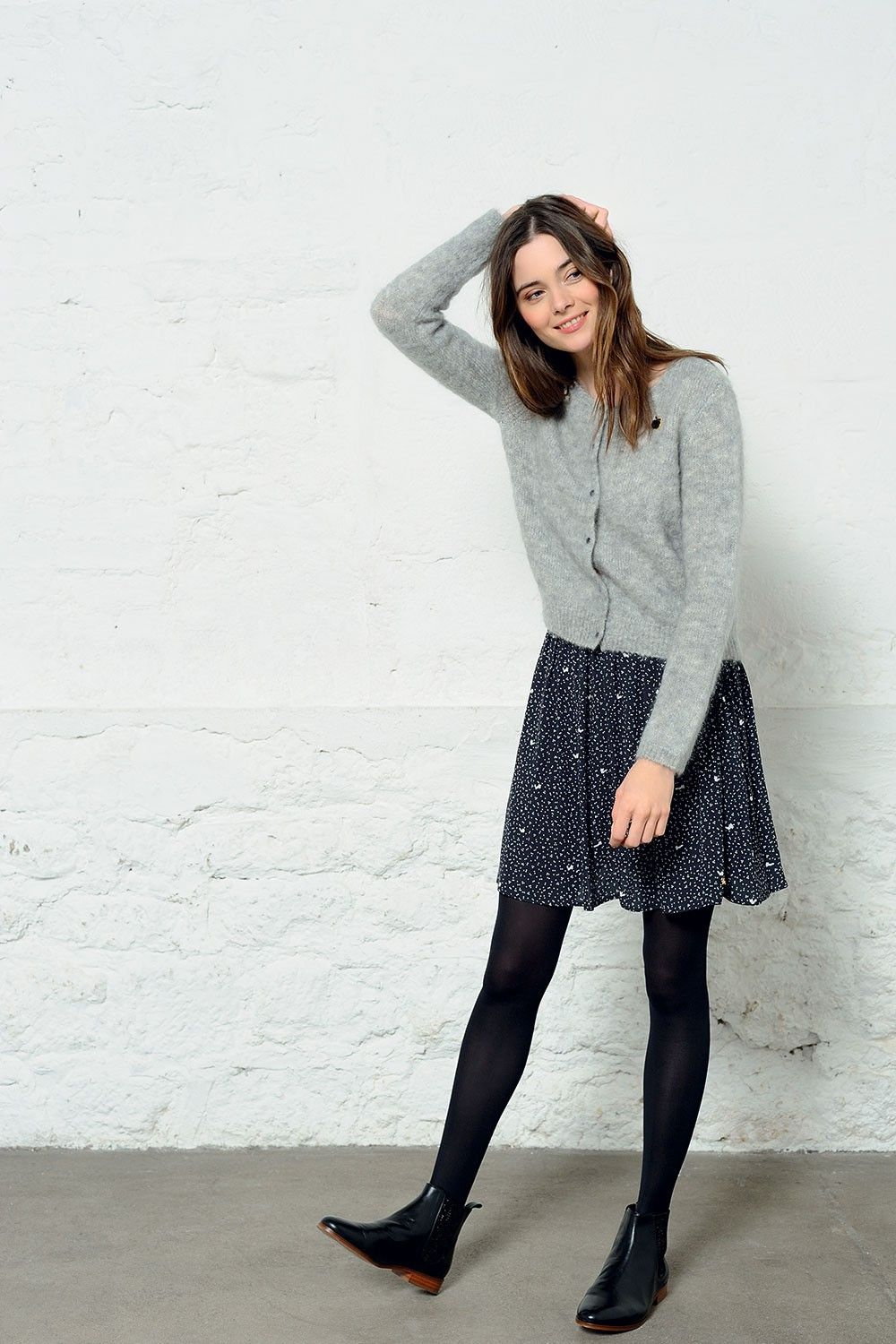 Jupe uliette ombre , jupe , des petits hauts 1 Black Tights Outfit, Tights  Outfit