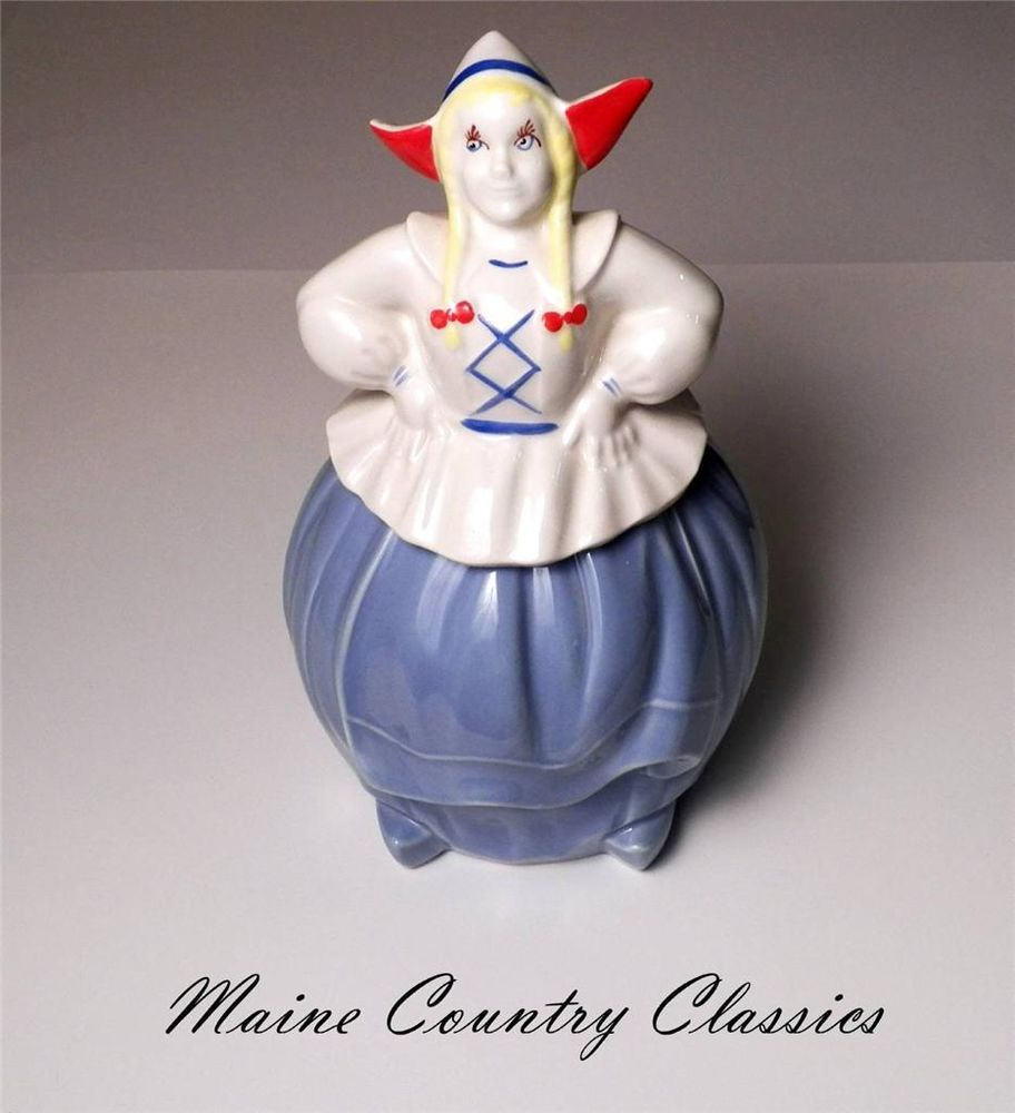 Cookie Jar Maine Impressive Excellent Vintage Pottery Guild Dutch Girl Cookie Jarcronin Inspiration