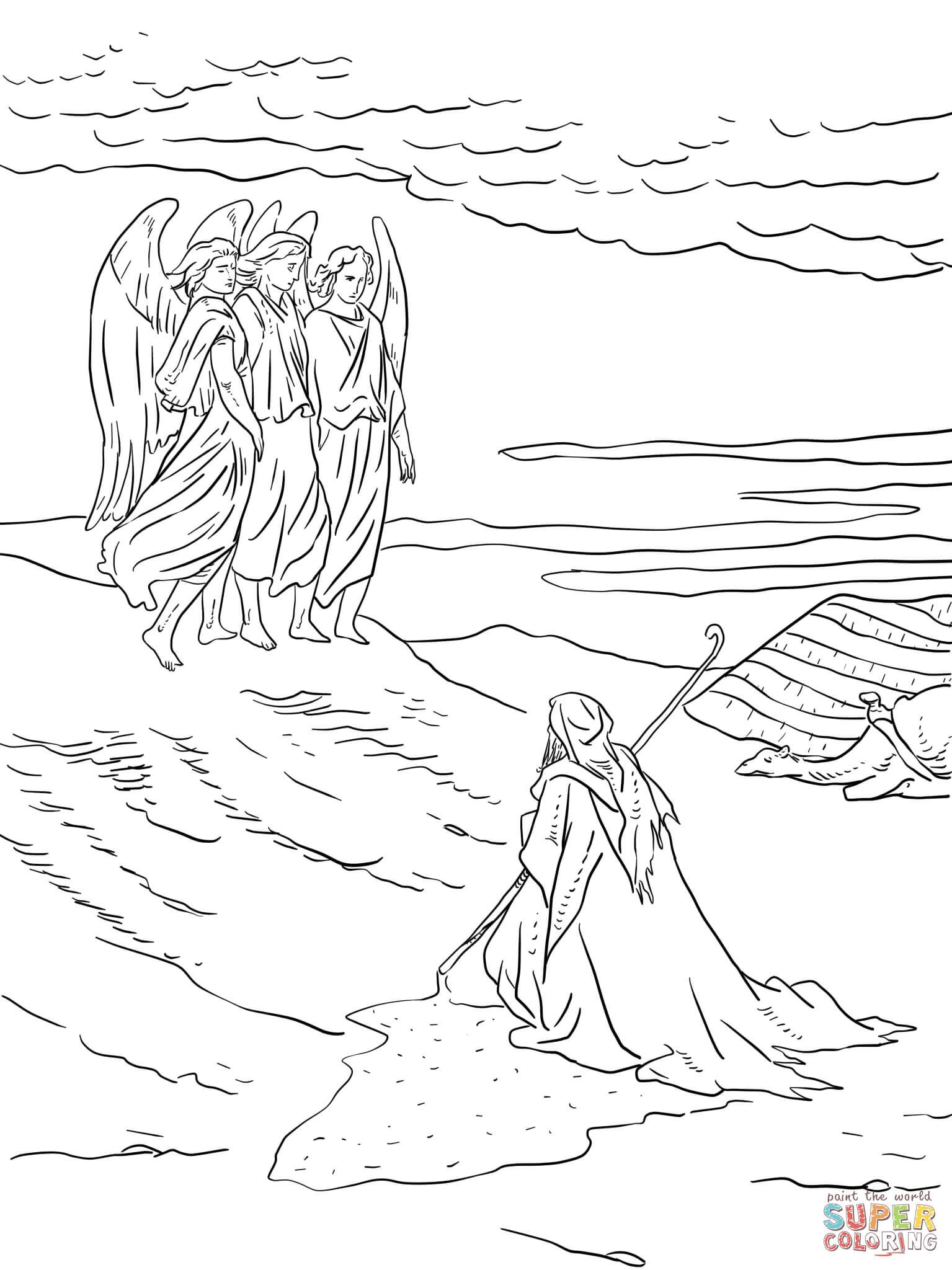 Abraham and the Three Angels | Super Coloring | Projets à essayer ...