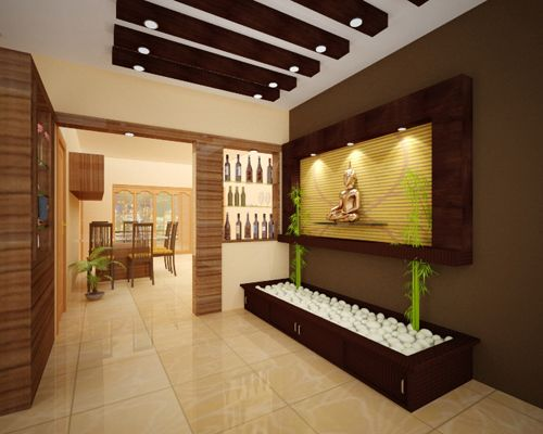 Decorative foyer design by by for Foyer designs india
