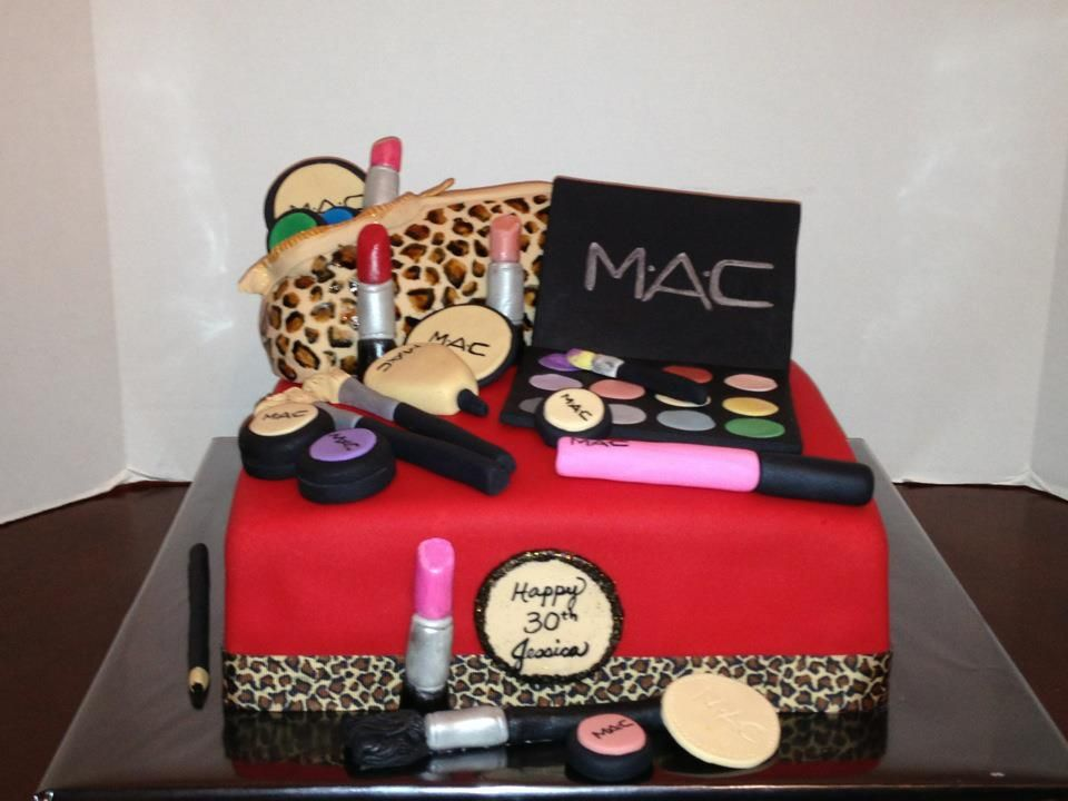 17 best ideas about Makeup Birthday Cakes on Pinterest | Mac cake ...