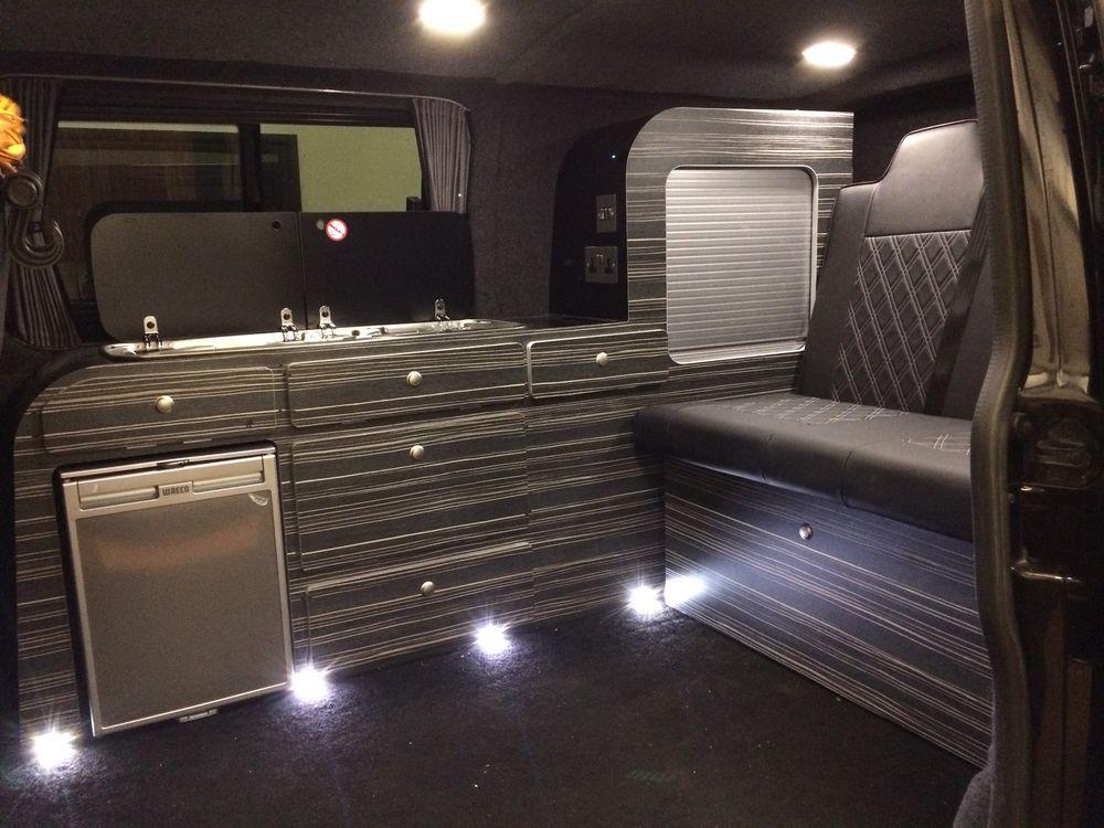 Ford Transit Rv >> Details about VW T5 Transporter curved campervan furniture unit interior cupboard waeco CR50 ...