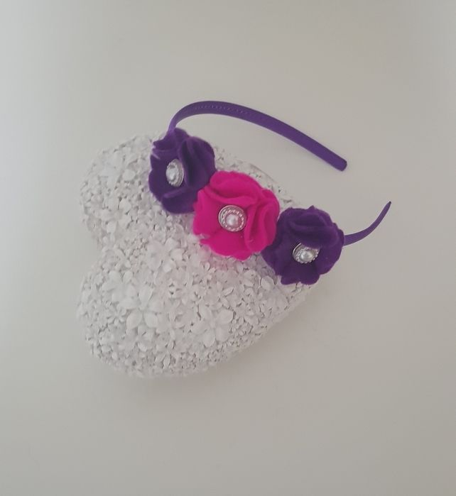 Beautiful Girls-toddler felt Flower headband #feltflowerheadbands