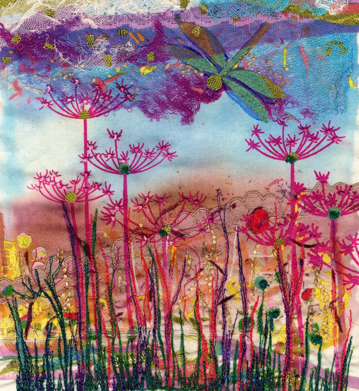 Allendale Forge Studios Textile Mixed Media And Glass