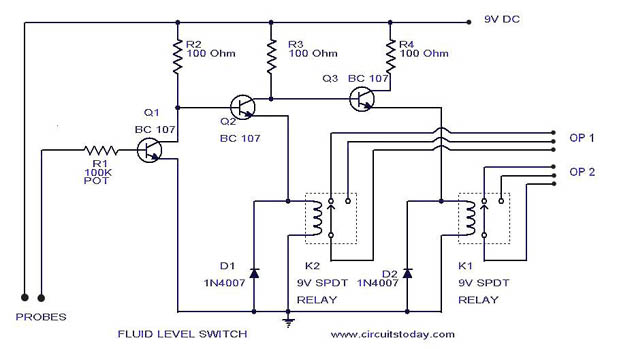 Level Switch Circuit Circuit Diagram Ladder Logic Floating In Water