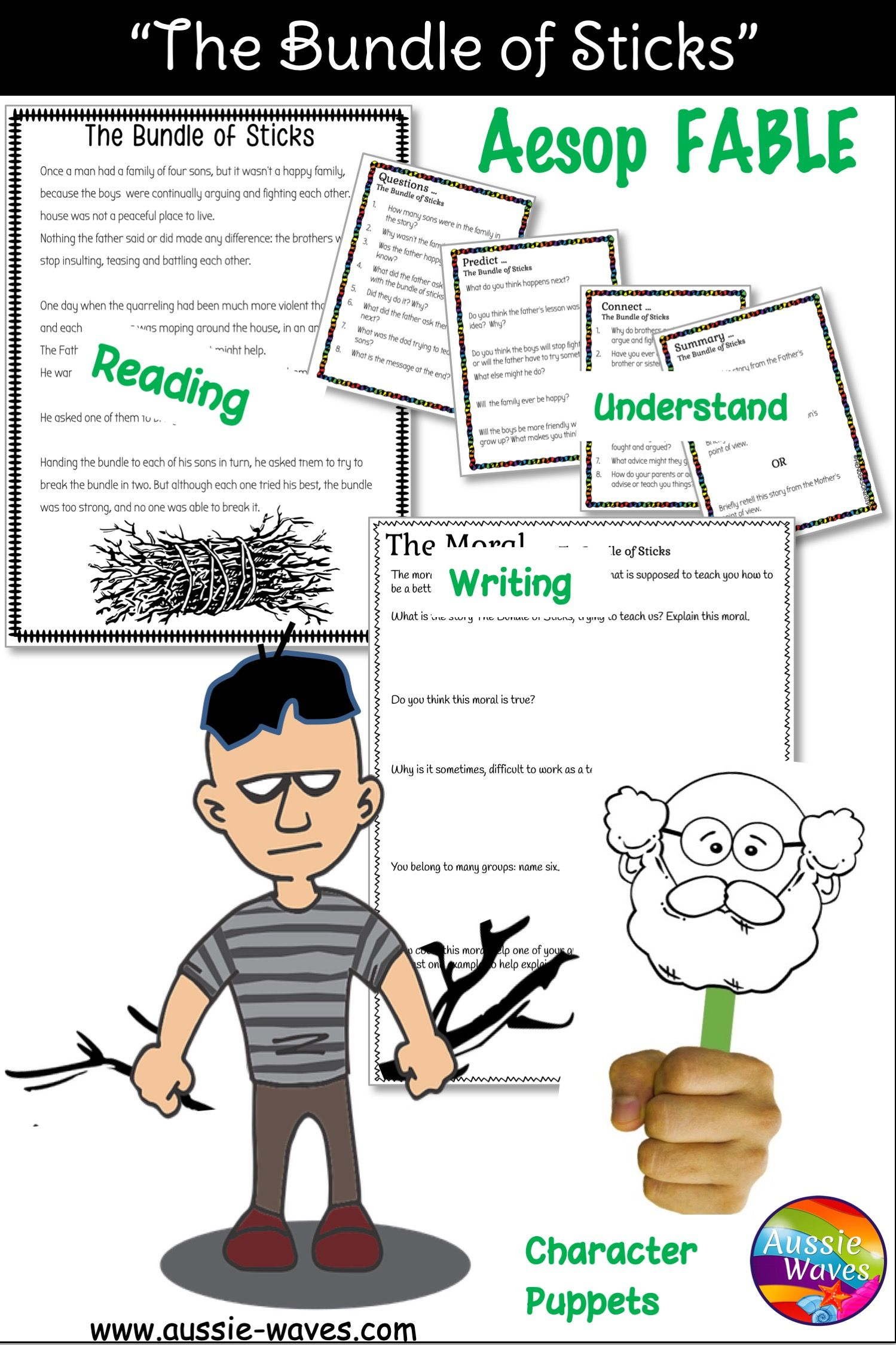 The Bundle Of Sticks Fable And Activities Teaching Reading Skills Teaching Reading Strategies Teaching Comprehension [ 2249 x 1499 Pixel ]