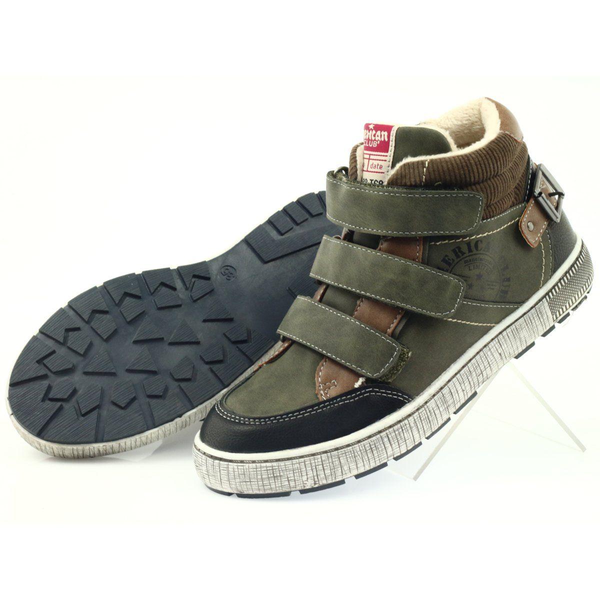 American Club Zielone Trzewiki Sportowe Zimowe 17779 Czarne Brazowe Winter Sport Shoes Winter Shoes Sports Shoes