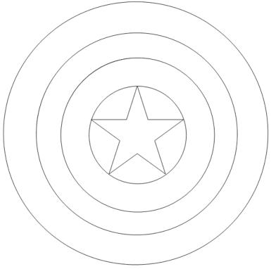 Resultado de imagem para capitão américa desenho colorir escudo ...
