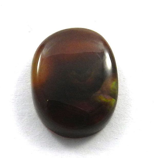 3.85CTS Genuine NATURAL MEXICAN FIRE AGATE 9x13mm uneven oval cabochon gemstone #Handmade