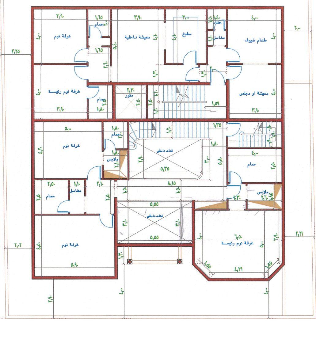 تصميم فيلا مع شقق خلفيه الرجاء ابداء ارائكم واقتراحاتكم Square House Plans Victorian House Plans Model House Plan