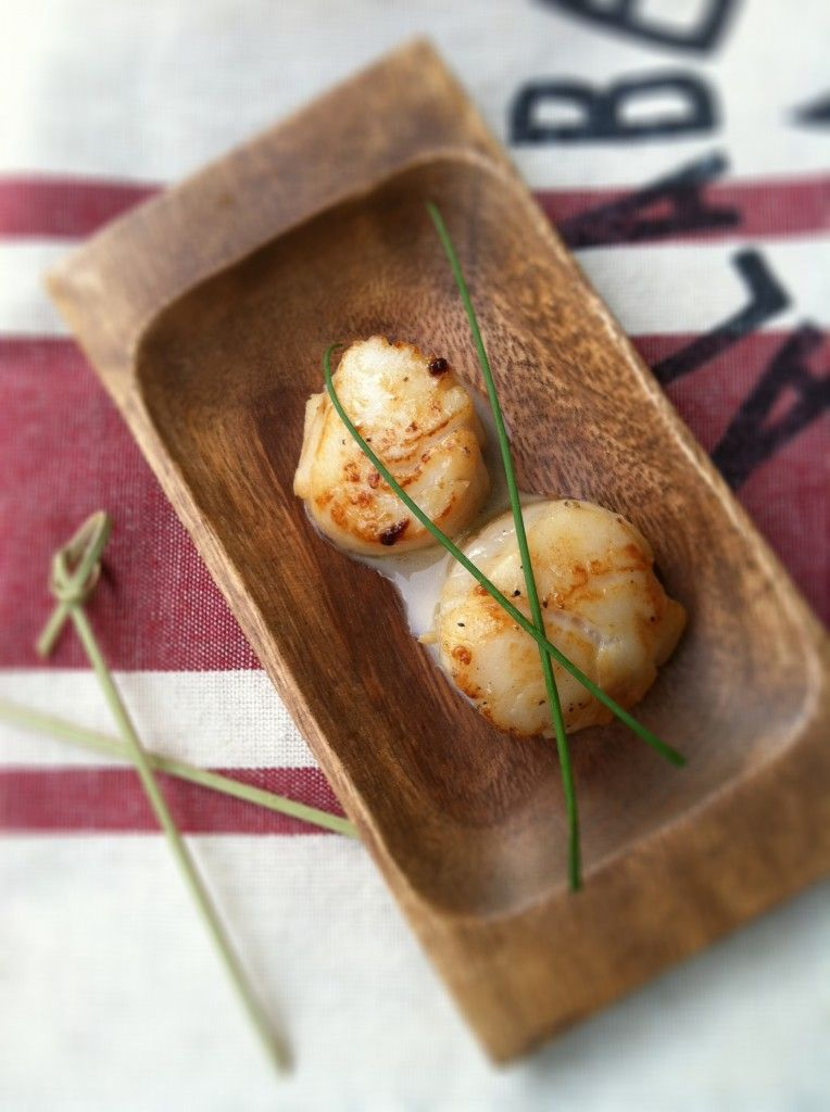 Seared Scallops w/Whiskey Cream Sauce from @Paula - bell'alimento