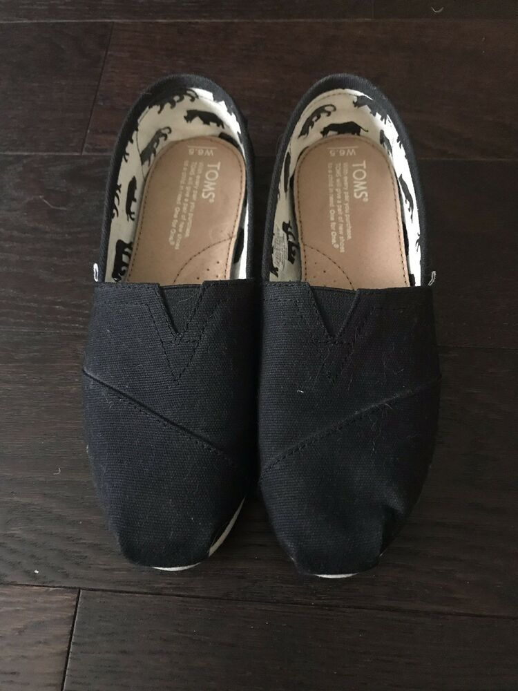 703cb25421c Tom s Classics Women s Canvas Slip-On Black Shoes - Size 6.5  fashion   clothing