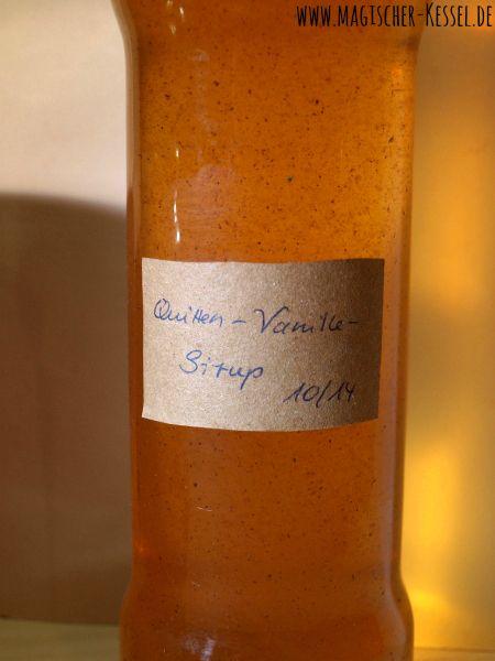 Geschenk aus der Küche: Quittensirup für Limonade #quitte #rezept #Sirup