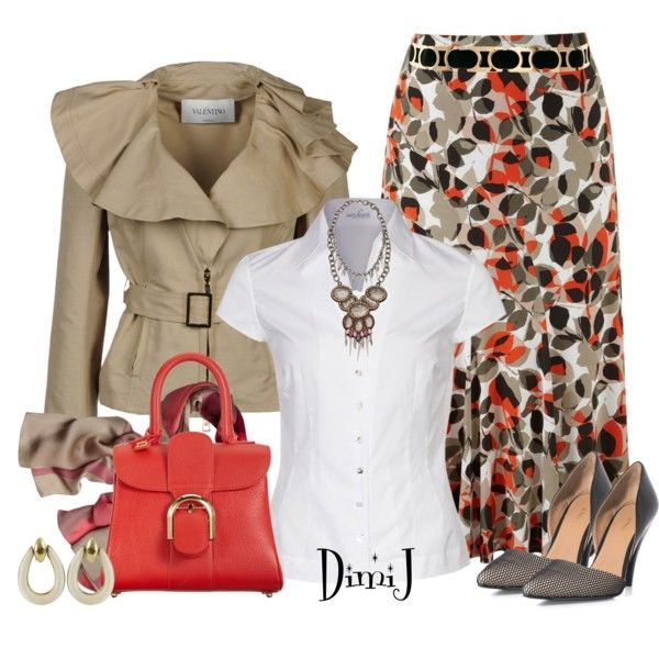 Skirt Collection: Layered Leaf, created by dimij on Polyvore