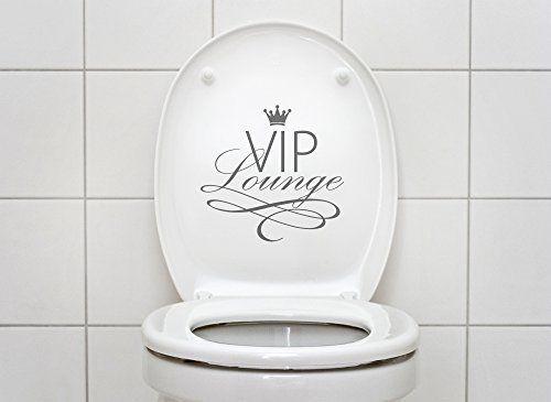 Elegant Grandora W WC Aufkleber VIP Lounge Wandtattoo Bad silbergrau Allgemein Pinterest
