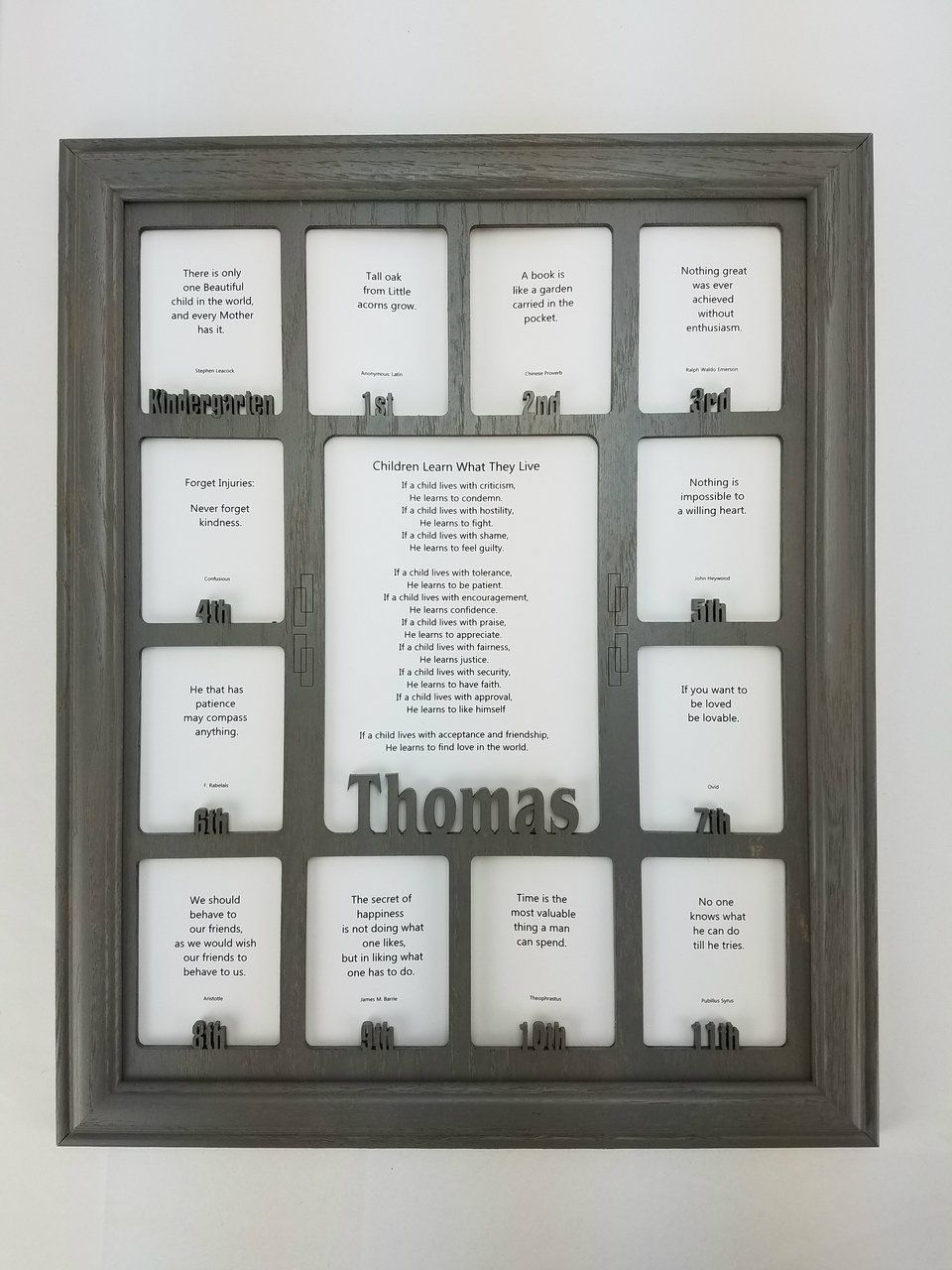School Years Picture Frame - Personalized Picture Frame with any ...