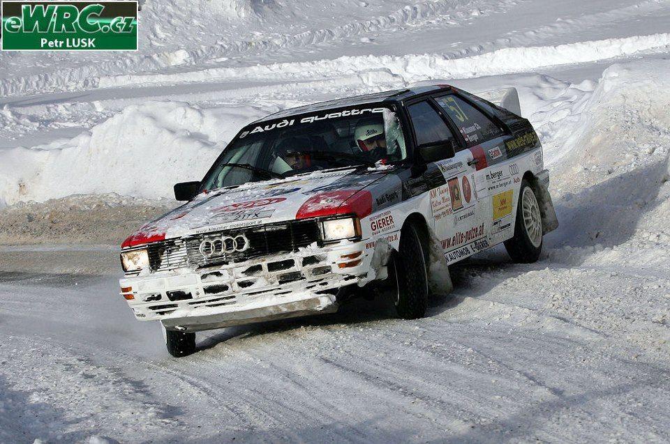 Audi snow action drivesideways Rally car, Audi sport