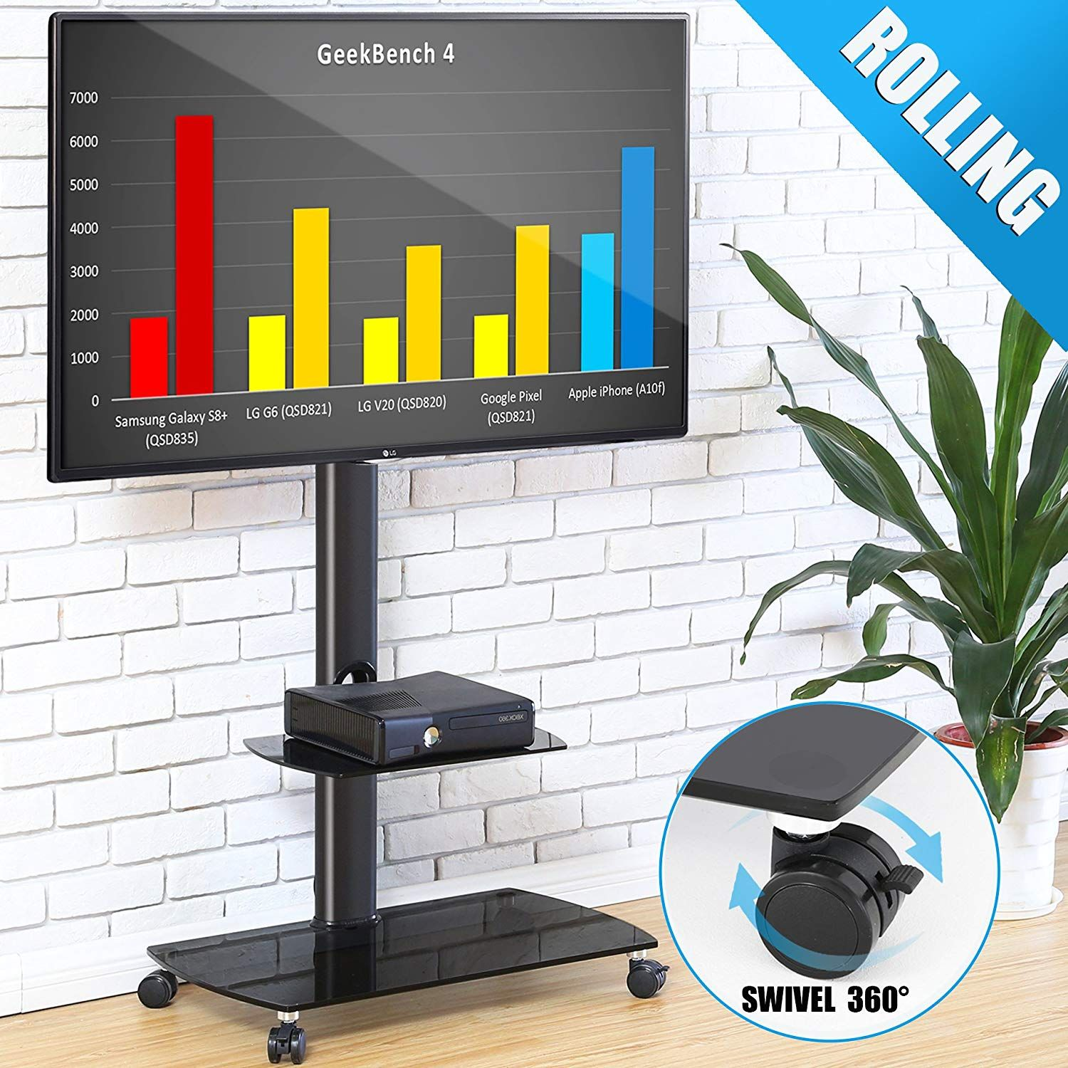 fitueyes chariot meuble tv avec