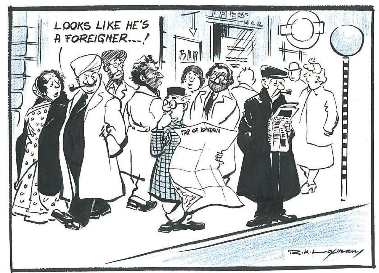 A selection of cartoons by India's R.K. Laxman. Reprinted with special thanks and permission from Dr. Dharmendra Bhandari, author of R.K. Laxman: The Uncommon Man: Collection of works from 1948 to 2008.